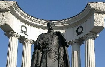 Император Александр II г. Москва у Храма Христа-Спасителя